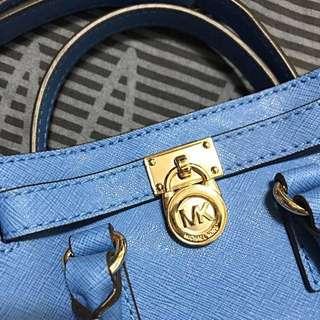 🚚 MK 經典logo mini  Hamilton bag 天空藍