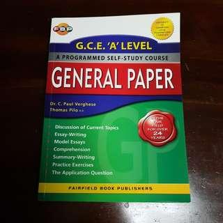 G.C.E. 'A' LEVEL Self Study Course General Paper