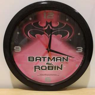 Batman and Robin clock