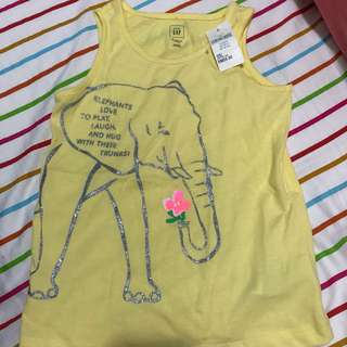 Yellow elephant T shirt