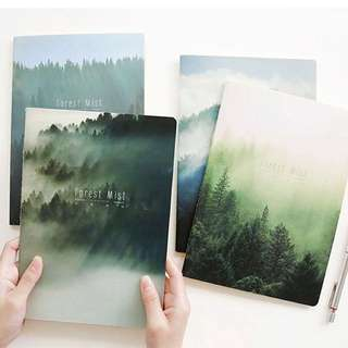 [FOREST] B5 Notebook /Lined Note Pad/ Soft Cover Diary/ Clean/ Minimalistic/ Sleek/ Trendy
