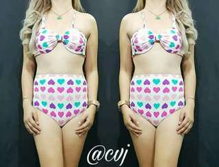 2 piece high waist swimsuit