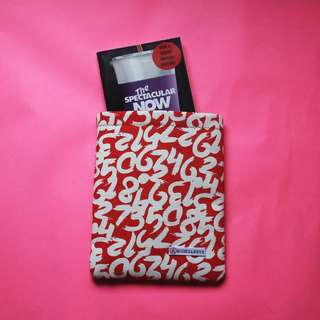 Red Numbers Book Sleeve