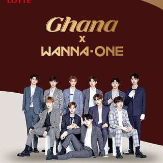 LOTTE GHANA X WANNA ONE PACKAGE VER.1, 2 & 3