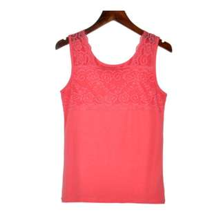 Camisole Laces Slim Fit Sexy Wild Shirt  - Watermelon Red