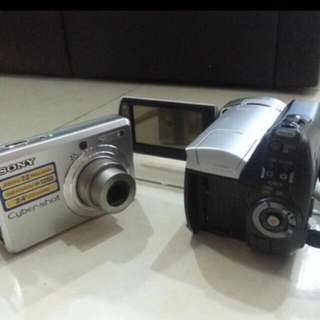 Sony Video cam and camera
