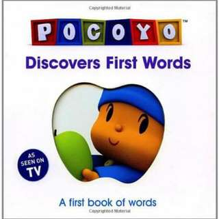 Pocoyo discovers first words buku cerita