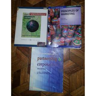 Assorted College Books - Chemistry, Marketing, Accounting