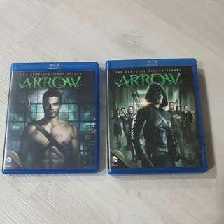 <SOLD> R07 Arrow Season 1 & Season 2 Blu ray