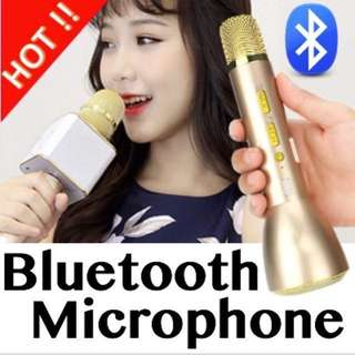 Wireless Bluetooth Karaoke Microphone cum Speaker