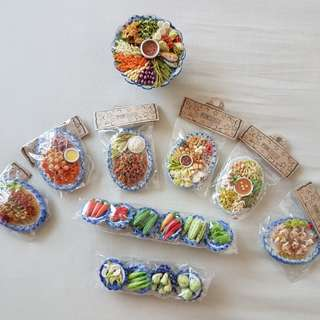 Miniature clay food bundle sale