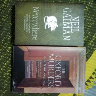The Oxford Murders & Neverwhere (both fiction)