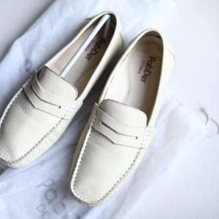 Pabder Cream Loafers