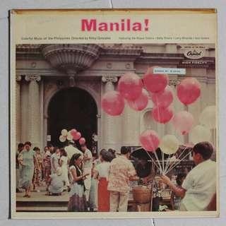 "Vinyl LP record, ""Manila"""