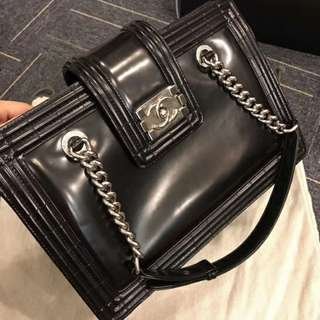 Chanel Patent LeBoy Tote