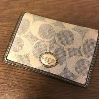 coach card holder silver real 卡片套 保證真品 購自美國