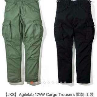 JKS軍綠色六口袋工作褲