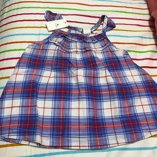Gap checkered top size 3 yrs old