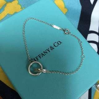 Tiffany 純銀 雙圈 手鍊