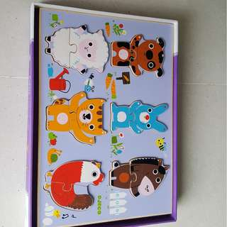 2 piece wooden puzzle from Djeco (18+ months).