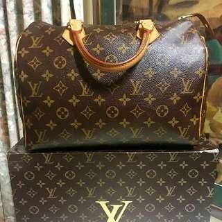 Authentic Louis Vuitton Speedy 30 Monogram Leather