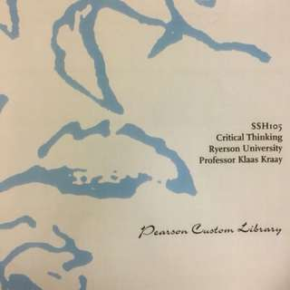Critical Thinking Textbook SSH 105