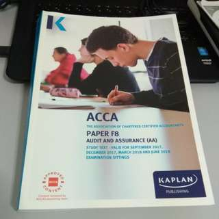 ACCA F8 study text  audit and assurance.