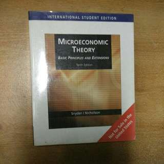 Microeconomic Theory (by: Snyder and Nicholson)