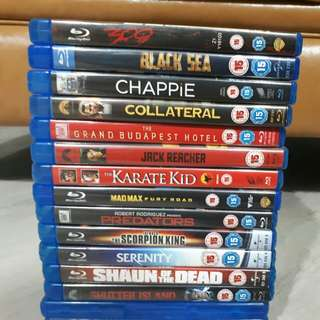 #B $12 for any 3 Blu ray Movies