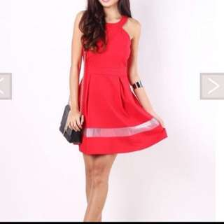MGP Label Merry Organza Dress in Red