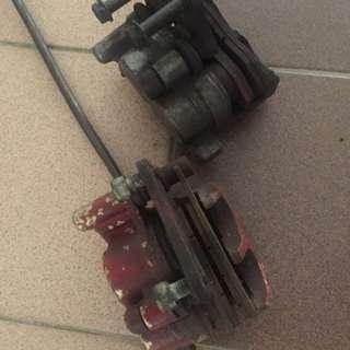 Kawasaki KR brake callipers