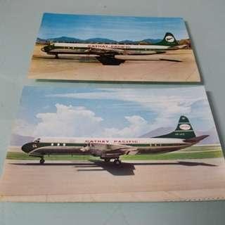 國泰航空 明信片 老香港懷舊物品古董珍藏