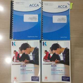 $10 for everything! ACCA F7 Kaplan Study Textbook, Exam Kit, Supplementary Notes, and Question Bank (March and December 2018)