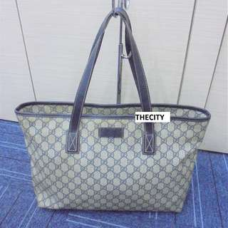 AUTHENTIC GUCCI LARGE LEATHER TOTE BAG