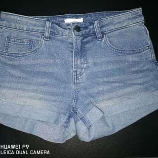 H&M HnM hotpants celana pendek biru blue jeans