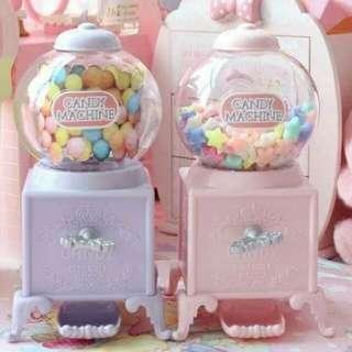 💕粉色少女心圓形糖果機💕