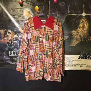 ❄️出清❄️古著 Vintage 襯衫篇 (紅色繽紛の)