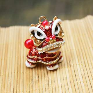 Lion Dance keychain / car decoration/ wish for good luck and fortune