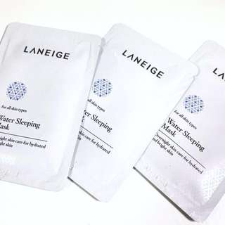3X Laneige Waterbank Sleeping Mask Samples