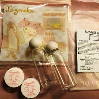Authentic Sanrio My Melody refill bottles set for travel