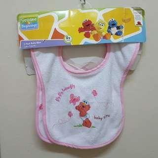 Sesame street 2 pack baby bibs