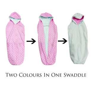 Shankusen Bedung Instant Sleeping Bag 2 colour in 1 Swaddle Various Design