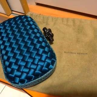 BV Clutch - Blue & Snake leather