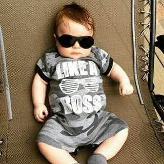 Newborn Baby Boy Camouflage Cotton Sleeveless Romper