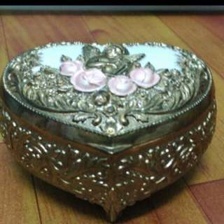 Vintage Jewelry Box - 3D Love Shape