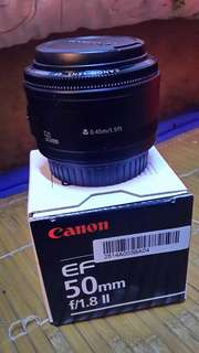 Canon lens EF 50mm f/1.8 ll