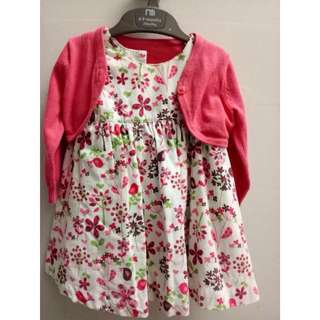 Pre💕Authentic MOTHERCARE Dress With Cardigan
