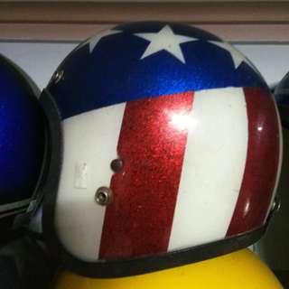 Vintage captain america original metal flake helmet