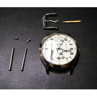 """Carlo Ferrara 40mm """"Regulator"""" automatic date in Steel"""