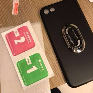Iphone 7 保護貼同手機殼 screen protector and case